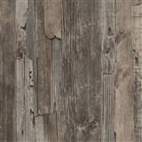 Vliesové tapety IMPOL Wood and Stone 2 drevo vintage tmavo hnedé