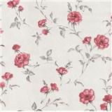 Vliesové tapety na stenu Allure kvety ruží červené s leskom