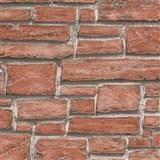 Vinylové tapety na stenu Wood´n Stone tehla červená