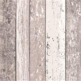 Vliesové tapety na stenu Wood'n Stone drevené dosky hnedo-biele