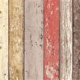 Vliesové tapety na stenu Wood'n Stone drevené dosky farebné