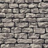 Vliesové tapety na stenu Wood'n Stone kameň sivý