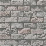 Papierové tapety na stenu Wood'n Stone kameň sivý