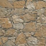 Vliesové tapety na stenu Wood'n Stone kameň štiepaný hnedý