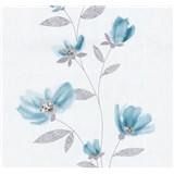 Vliesové tapety na stenu Blues kvety modré