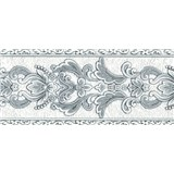 Vliesové bordúry ornamenty sivé s trblietkami rozmer 5 m x 12,5 cm