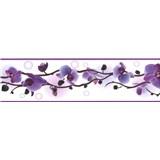 Samolepiace bordúry orchidea fialová 5 m x 8,3 cm