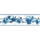 Samolepiaca bordúra orchidea modrá 5 m x 8,3 cm