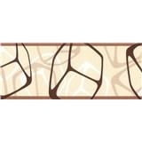 Samolepiace bordúry štvorčeky hnedé 5 m x 6,9 cm