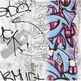 Papierové tapety na stenu Boys & Girls graffiti farebné