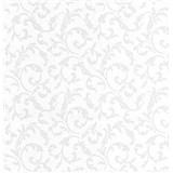 Luxusné vliesové tapety na stenu Brilliance zámocký vzor biely