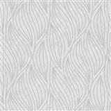 Vliesové tapety IMPOL Carat 2 listy strieborné na bielom podklade