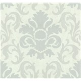 Vliesové tapety na stenu Carat zámocký vzor strieborný na bielom podklade
