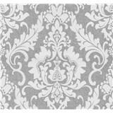 Vliesové tapety na stenu Casual Chic zámocký vzor biely