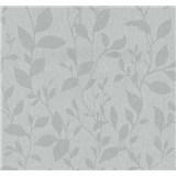 Vliesové tapety na stenu Casual Chic lístočky sivé