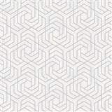 Vliesové tapety IMPOL City Glam geometrický vzor svetlo sivý s metalickými odleskami