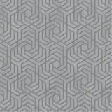 Vliesové tapety IMPOL City Glam geometrický vzor sivý so zlatými metalickými odleskami