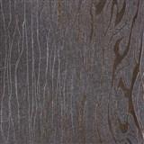 Vliesové tapety na stenu Colani Visions drevo moderné hnedé s medenými kontúrami