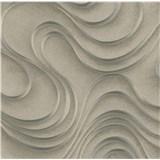 Luxusné vliesové tapety na stenu Colani Evolution vlnovky hnedé