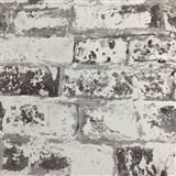 Vliesové tapety na stenu Collage tehla sivá