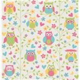 Vliesové  tapety na stenu Collection 2 sovy farebné