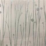 Vliesové tapety na stenu Collection stonky svetlo zelené s vysokým leskom na bielom podklade