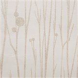 Vliesové tapety na stenu Collection stonky svetlo hnedé s vysokým leskom