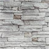 Vliesové tapety na stenu kameň sivý