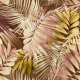 Vliesové tapety na stenu IMPOL Collection Tropical Jungle ružovo-žltá