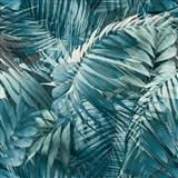 Vliesové tapety na stenu IMPOL Collection Tropical Jungle modrá