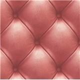 Vliesové tapety na stenu Exposed Warehouse imitácia koženky s gombíkmi červená