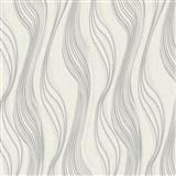 Vliesové tapety na stenu Collection 2 vlnovky bielo-strieborné