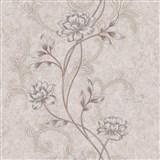 Vliesové tapety na stenu IMPOL kvety na hnedom štruktúrovanom podklade
