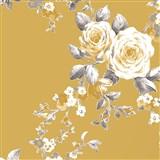 Papierové tapety na stenu Catherine Lansfield ruže na hnedom podklade