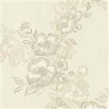 Luxusné vliesové tapety na stenu G.M.Kretschmer Deluxe kvety krémové