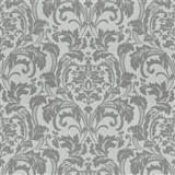 Luxusné vliesové tapety na stenu G.M.Kretschmer Deluxe zámocký vzor sivý