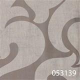 Tapety na stenu La Veneziana - biely benátsky vzor na striebornom podklade s metalickým efektom - PO