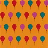 Tapety na stenu Die Maus farebné balóniky na oranžovom podklade