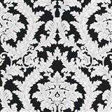 Vliesové tapety na stenu IMPOL Effecto zámocký vzor bielo-sivý s trblietkami na čiernom podklade