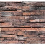 Vliesové tapety na stenu Einfach Schoner drevo červené