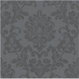 Vliesové tapety na stenu Ella zámocký vzor čierny