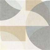 Vliesové tapety na stenu Elle Decoration geometrický vzor pastelovo hnedo-sivý