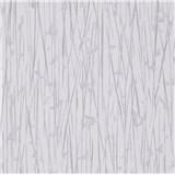 Vliesové tapety na stenu IMPOL Paradisio 2 florálny vzor strieborný na bielom podklade