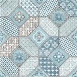Vliesové tapety na stenu IMPOL Eyecatcher marokánsky vzor modrý