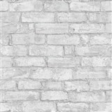 Vliesové tapety na stenu Imitations tehlová stena sivá