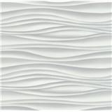 Vliesové tapety na stenu Freestyle vlnovky vodorovné sivé