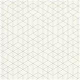 Vliesové tapety na stenu Scandinja skandinávsky design biely so sivými kontúrami