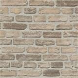 Vliesové tapety na stenu Imitations tehlová stena béžovo-sivá