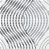 Vliesové tapety na stenu G.M.K. Fashion for walls vlnovky čierno-sivé na bielom podklade