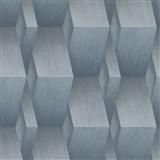 Vliesové tapety na stenu G.M.K. Fashion for walls 3D kocky sivo-modré